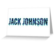 Jack Johnson wordart Greeting Card