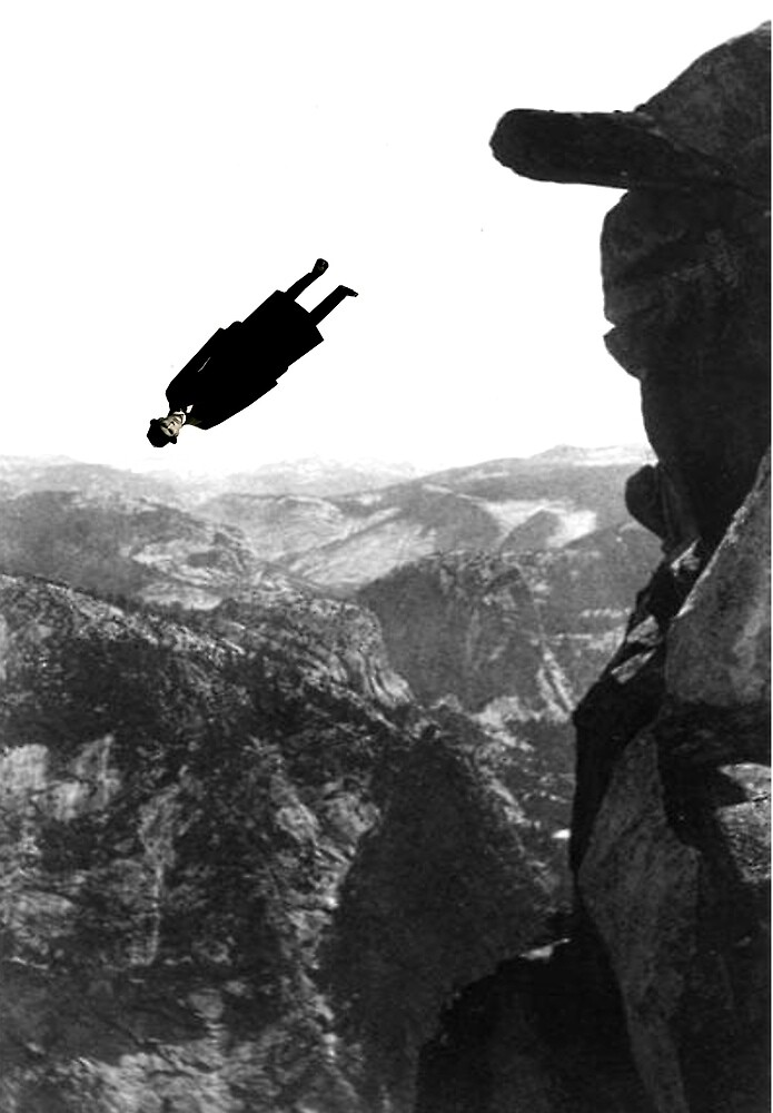 he fell off the mountain just like that by Loui  Jover