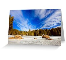 beauty of winter sky Greeting Card