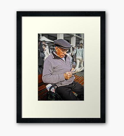 Life's A Puzzle Framed Print