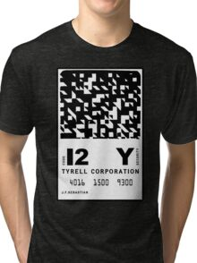 J.F.Sebastian Tyrell Corporation Entry Card Tri-blend T-Shirt