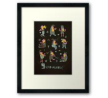 9 sleepwalkers Framed Print