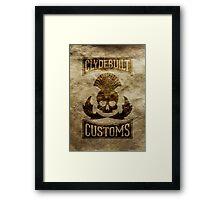 Clydebuilt Customs (black) Framed Print