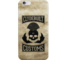 Clydebuilt Customs (black) iPhone Case/Skin