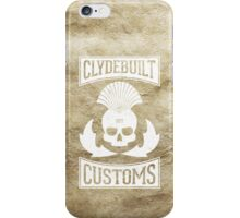 Clydebuilt Customs (white) iPhone Case/Skin