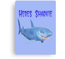 Heres Sharkie Canvas Print