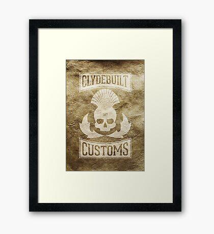 Clydebuilt Customs (white) Framed Print