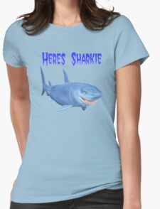 Heres Sharkie Womens Fitted T-Shirt