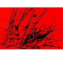 Strike Out Red and Black Abstract Photographic Print