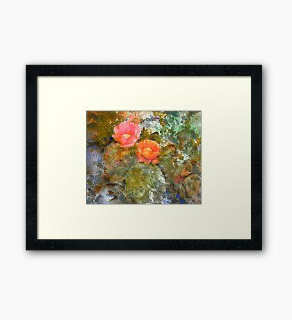 Desert Floor - Spring Framed Print
