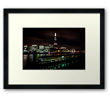 London, The Shard over Thames Framed Print