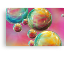 Tropical Feather Bubble Abstract Canvas Print