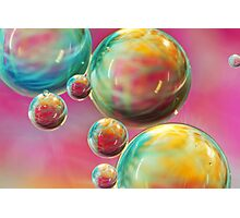 Tropical Feather Bubble Abstract Photographic Print