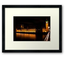 London Big Ben, Westminster, House of Parlament, Uk Framed Print