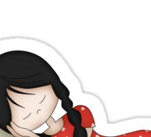 Whimsical Girl Sleeping on the Moon Sticker