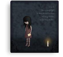 Whimsical Melancholy Emo Girl Canvas Print