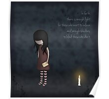 Whimsical Melancholy Emo Girl Poster