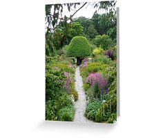 Crathes Garden Greeting Card