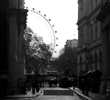 View of London Eye from Number 10 Downing street by Karen Hood