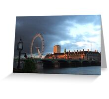 London Eye from the Strangers Gallery Greeting Card