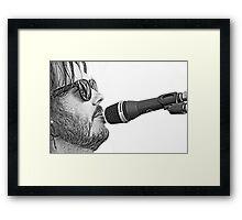 Chris Rockin' Framed Print