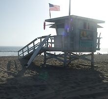 "Santa Monica (""Baywatch"" beach) Lifeguards by Karen Hood"