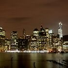 Lower Manhattan At Night by copacic