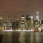 Manhattan Skyline at Night by copacic