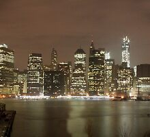 Manhattan Skyline at Night by copacic