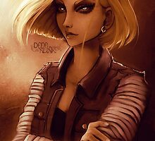 Fan-art: Android 18 by Kaizoku-hime