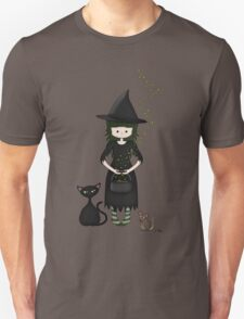 Whimsical Little Witch Unisex T-Shirt