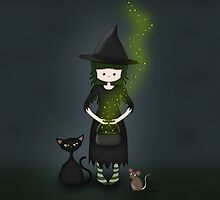 Whimsical Little Witch by ArtformDesigns