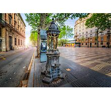 La Rambla Fountain Photographic Print
