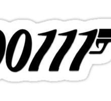 007 Binary 00111  Sticker