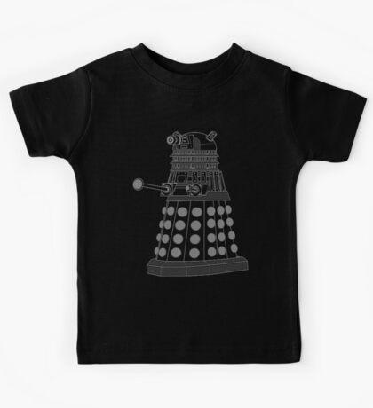 White ASCII Dalek Kids Tee
