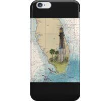 Hillsboro Inlet Lighthouse FL Chart Cathy Peek iPhone Case/Skin