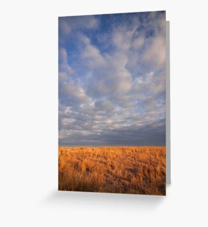 Nebraska Prairie & Sky Greeting Card
