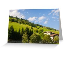 Austria, Tyrol, Zillertal Inn river valley  Greeting Card