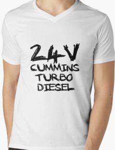 24 V Cummins Turbo Diesel Mens V-Neck T-Shirt