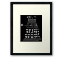 White ASCII Dalek Framed Print