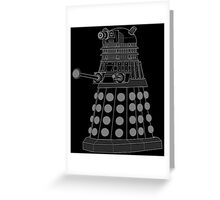 White ASCII Dalek Greeting Card