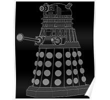 White ASCII Dalek Poster