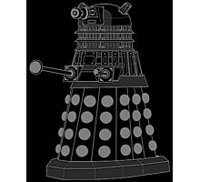 White ASCII Dalek Photographic Print