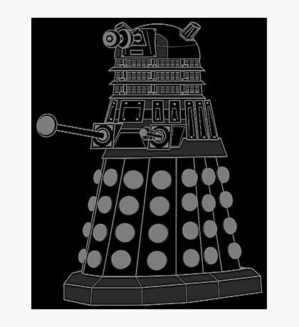 White ASCII Dalek Photographic Print