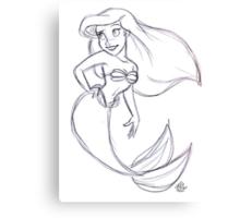 Ariel Sketch Canvas Print