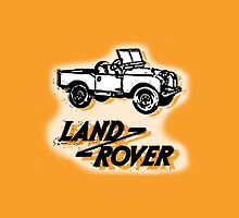Land Rover badge and car. Unisex T-Shirt
