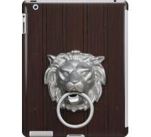 Lion Head Doorknocker iPad Case/Skin