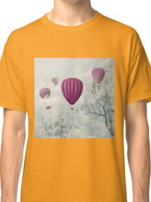 Hot air balloons in the clouds Classic T-Shirt