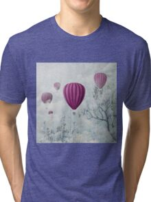 Hot air balloons in the clouds Tri-blend T-Shirt