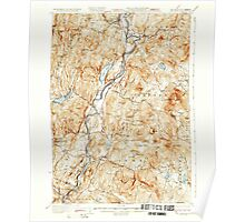 USGS TOPO Map New Hampshire NH Mt Cube 330220 1933 62500 Poster